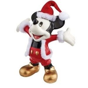Disney Santa Mickey Porcelain Christmas Ornament